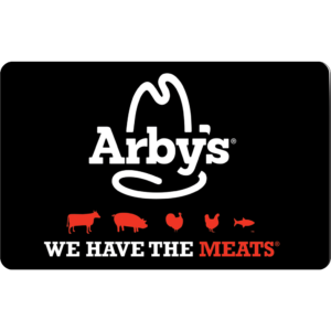 Arby's Gift Card | Buy Now at SVM